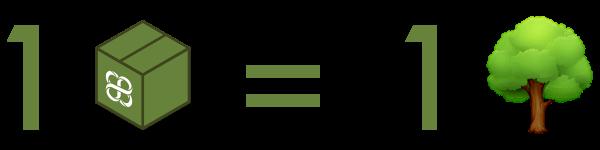 Logotipo 1 envío = 1 árbol